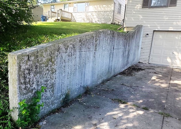 Concrete wall before
