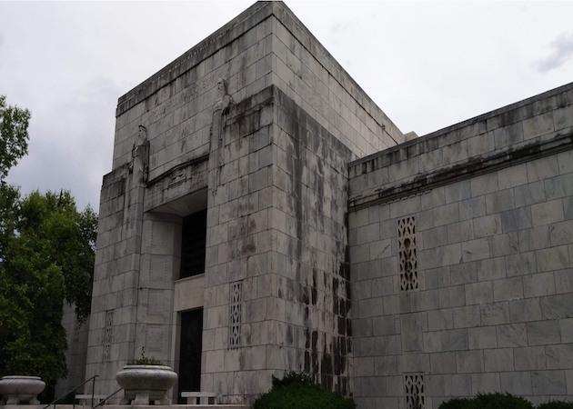 before mausoleum