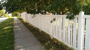 white fence after